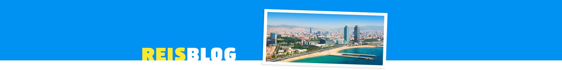 Boulevard van Barcelona, met een panorama uitkijkend over deze prachtige stad.